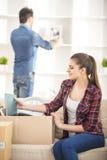 家庭移动 免版税库存照片