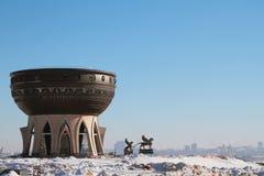 家庭`喀山`的中心在冬日 喀山俄国 库存照片