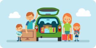 家庭购物的平的例证 库存图片