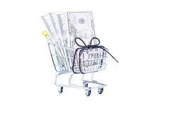 家庭费用小本经营地预算 免版税图库摄影