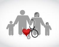 家庭医疗保健概念例证 免版税库存图片
