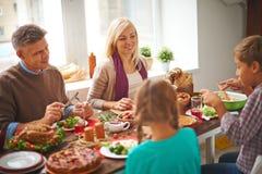 家庭宴餐 库存图片