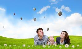 年轻家庭 免版税图库摄影