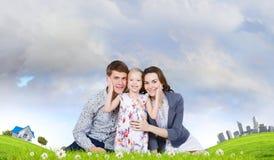 年轻家庭 图库摄影