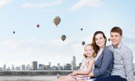 年轻家庭 免版税库存照片