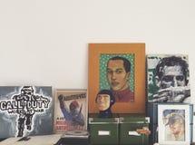 家庭画廊 库存照片