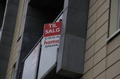 家或公寓房耕种销售 免版税库存照片