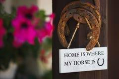 家是我的马的地方 免版税库存图片