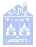 家是温暖的地方 库存图片
