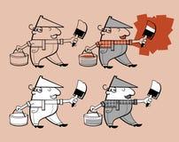 画家漫画人物 免版税图库摄影