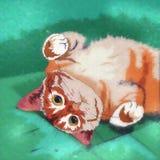 家猫例证 免版税库存照片
