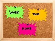 从家的工作 免版税库存照片