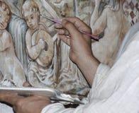 画家的手 免版税库存照片