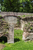 家的遗骸在古老罗马市Diokletianopolis, Hisarya,保加利亚镇  图库摄影