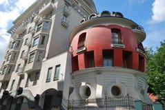 家的鸡蛋在莫斯科 免版税库存图片