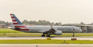 757家航空公司美国人波音 免版税库存图片