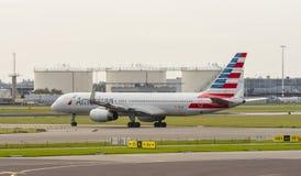 757家航空公司美国人波音 免版税库存照片