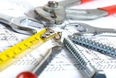 家集合工具 免版税图库摄影