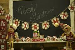 家,圣诞快乐的假日装饰 库存照片