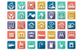 家,房地产象集合 免版税图库摄影