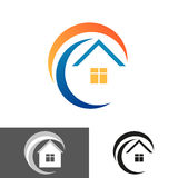 家,房子象,商标 免版税图库摄影