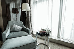 家&旅馆卧室内部 免版税库存照片