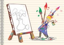 画家 向量例证