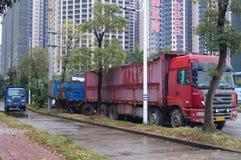 容器卡车 免版税库存照片