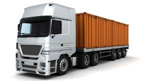 容器发运运费通信工具 向量例证