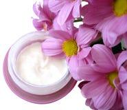 容器奶油色紫罗兰 免版税库存照片