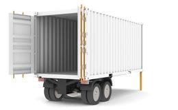容器拖车 免版税图库摄影