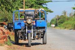 容器摩托车在越南 库存图片