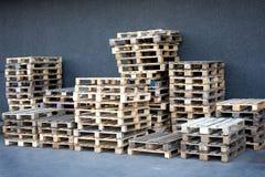 容器木调色板的存贮 免版税库存图片