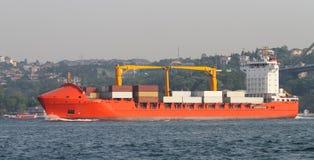 容器格但斯克波兰端口船 库存照片