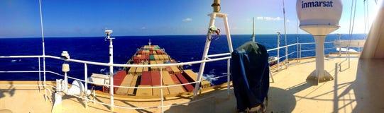 容器格但斯克波兰端口船 免版税库存图片