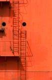 容器梯子船 免版税图库摄影