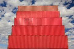 容器港口采购管理系统红色 免版税图库摄影