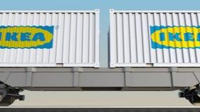 容器的铁路运输有宜家商标的 回报4K夹子的社论3D 向量例证