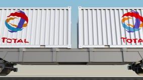 容器的铁路运输有总S的 A 徽标 回报4K夹子的社论3D 向量例证