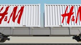 容器的铁路运输有H M商标的 回报4K夹子的社论3D 向量例证