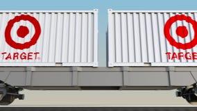 容器的铁路运输有Target Corporation商标的 回报4K夹子的社论3D 向量例证