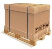 容器纸盒 免版税库存图片