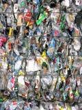 容器被击碎的塑料 图库摄影