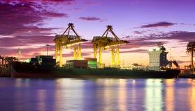 容器货物运费船 库存图片