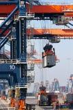容器起重机港口增强 免版税库存图片