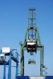 容器起重机港口 免版税图库摄影