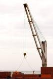 容器起重机端口海运工作者 库存照片