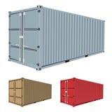 容器运费向量 皇族释放例证