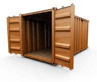 容器运费 向量例证