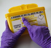容器锐利警告 免版税库存图片
